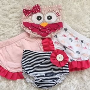 NWOT Baby Aspen Diaper Covers 🦉💗